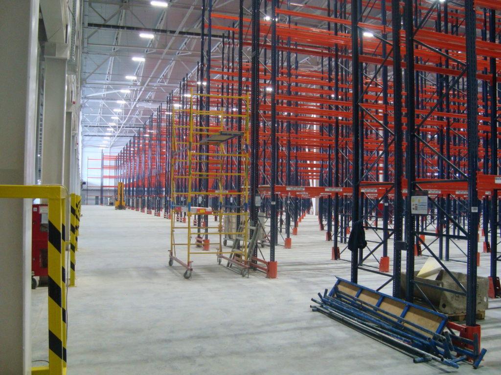 geolighting, освещение склада, освещение склада стеллажного хранения, светотехнический расчёт, расчёт освещённости, проектирование освещения